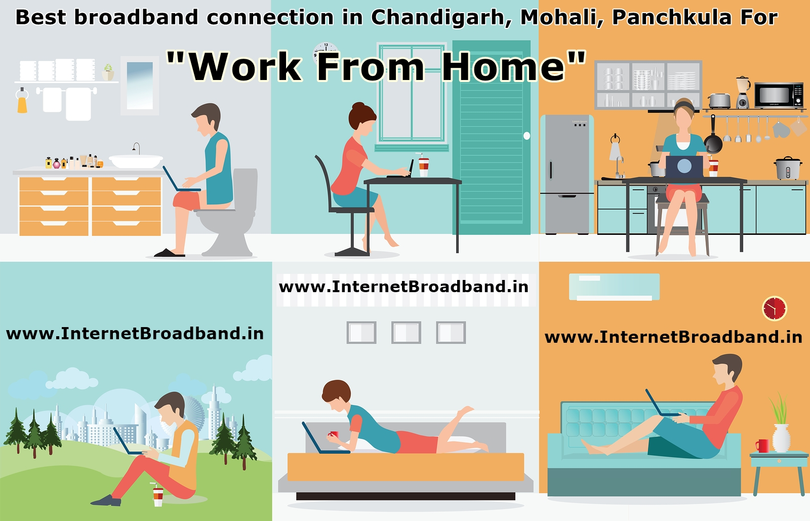 best broadband for Work from Home in Chandigarh Mohali Panchkula Kharar Zirakpur